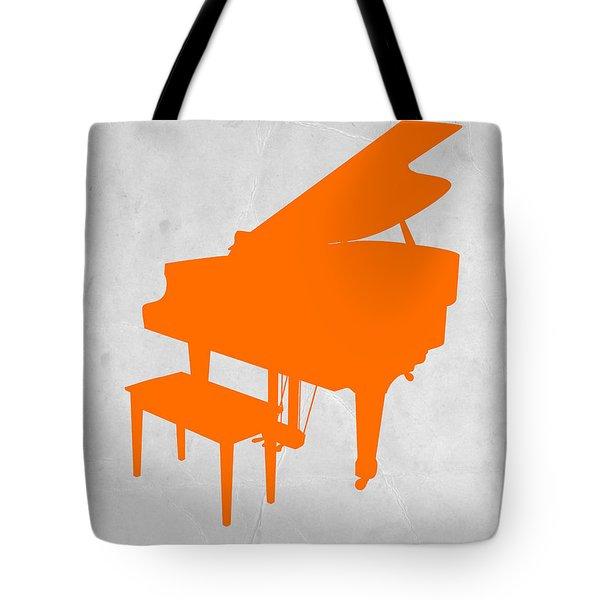 Orange Piano Tote Bag by Naxart Studio
