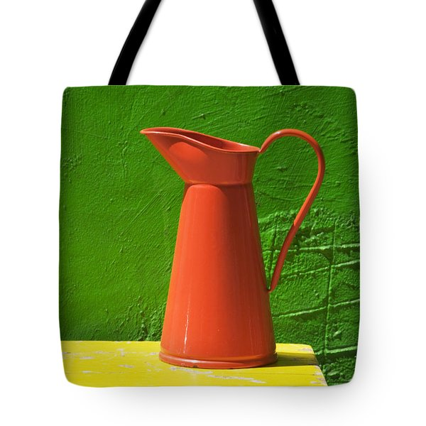 Orange Pitcher Tote Bag by Garry Gay