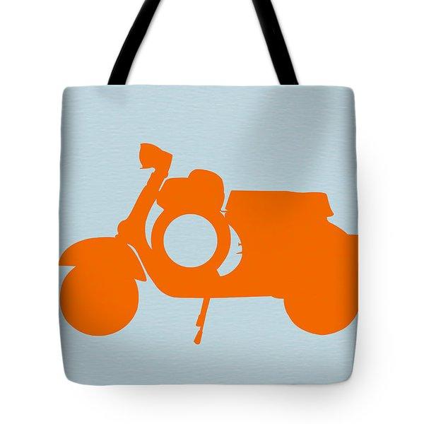 Orange Scooter Tote Bag by Naxart Studio
