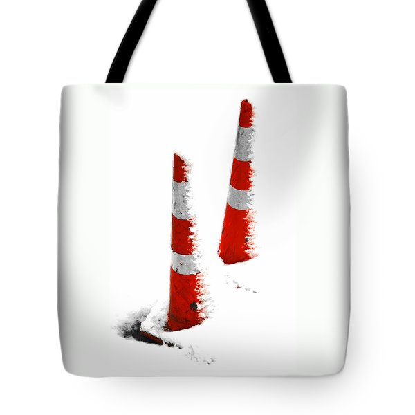 Tote Bag featuring the digital art Orange Snow Cones by Steve Taylor
