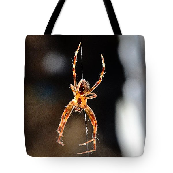 Orange Spider Tote Bag