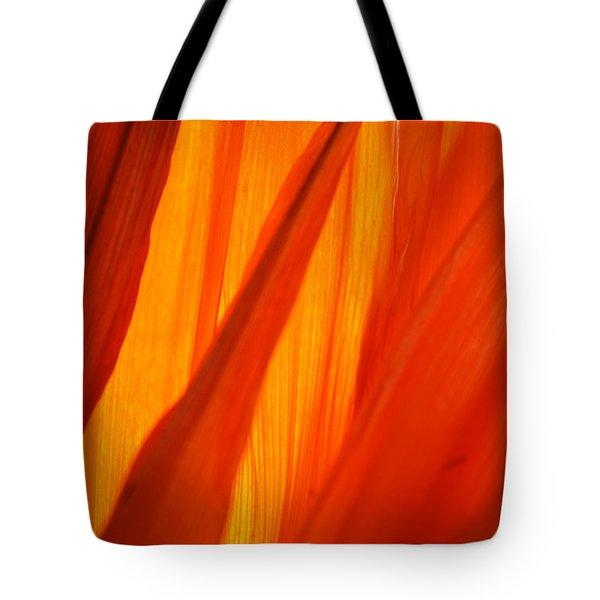 Orange Sunshine Tote Bag by Bobby Villapando