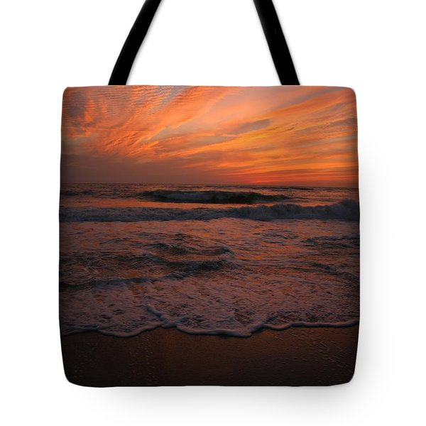 Orange To The End Tote Bag