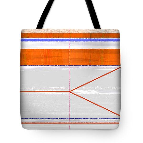 Orange Triangle Tote Bag