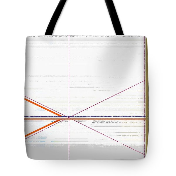 Orange Triangles With Grey Tote Bag