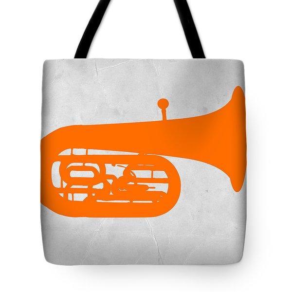 Orange Tuba Tote Bag