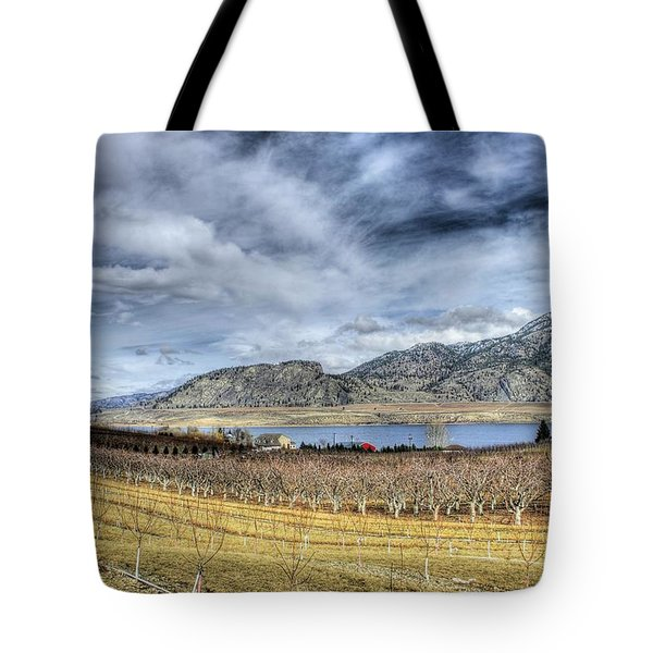 Orchards And Vineyards Tote Bag by John  Greaves