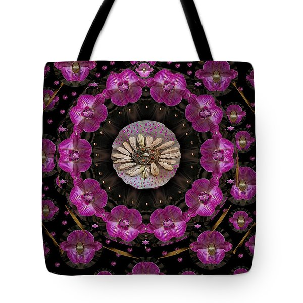 Orchids And Fantasy Flowers Tote Bag by Pepita Selles