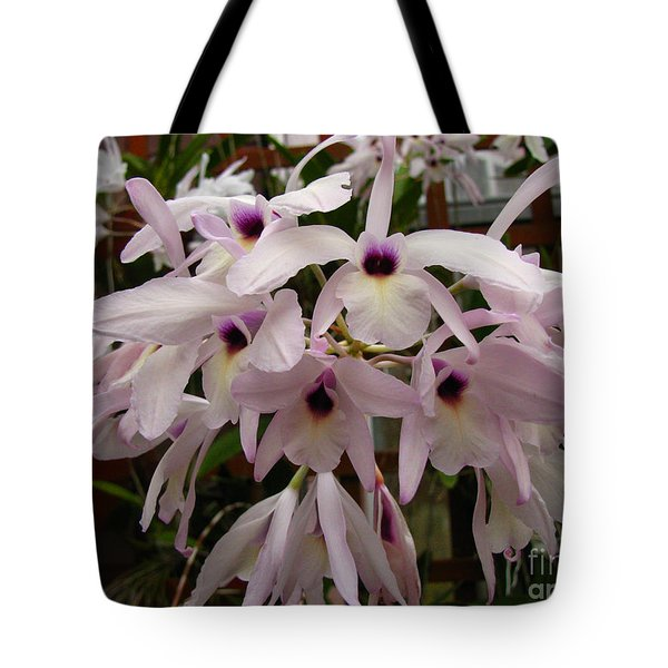 Tote Bag featuring the photograph Orchids Beauty by Donna Brown