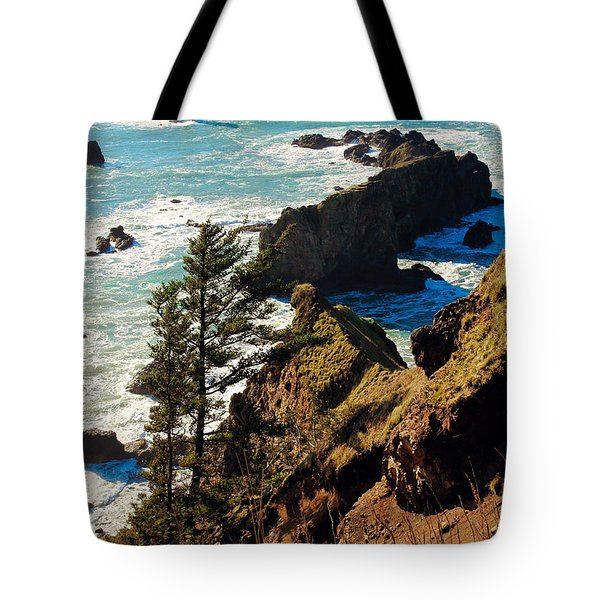 Tote Bag featuring the photograph Oregon Coast by Athena Mckinzie