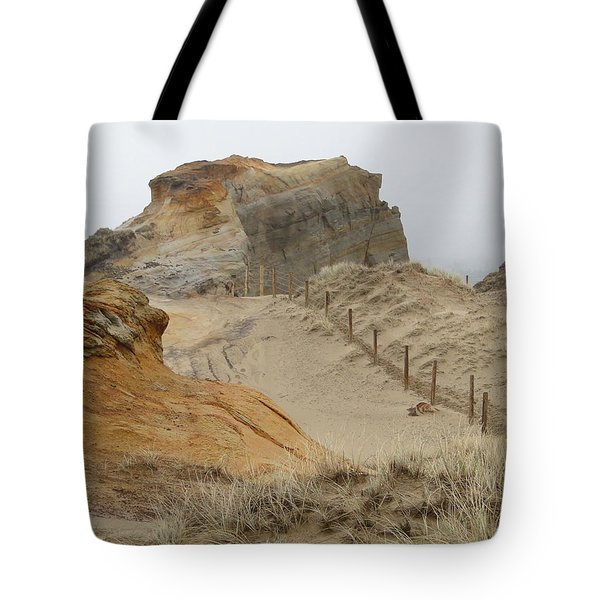 Tote Bag featuring the photograph Oregon Sand Dunes by Athena Mckinzie