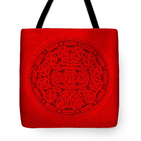 Oreo In Red Tote Bag