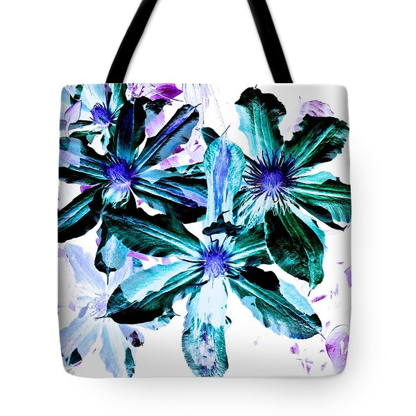 Organic Techno Flowers Tote Bag