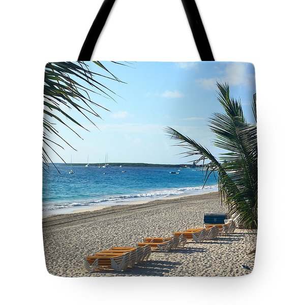 Tote Bag featuring the photograph Orient Beach St Maarten by Catie Canetti