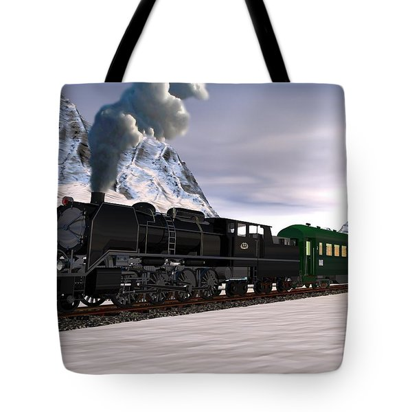 Tote Bag featuring the digital art Orient Express by John Pangia