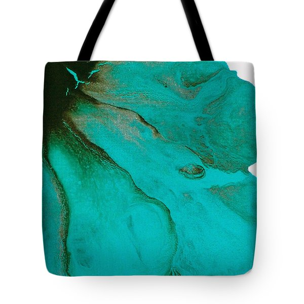 Original Aceo Flower Painting Tidal Tote Bag by Catherine Jeltes