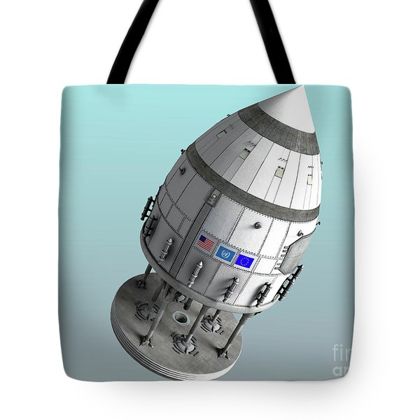 Orion-drive Spacecraft In Standard Tote Bag by Rhys Taylor