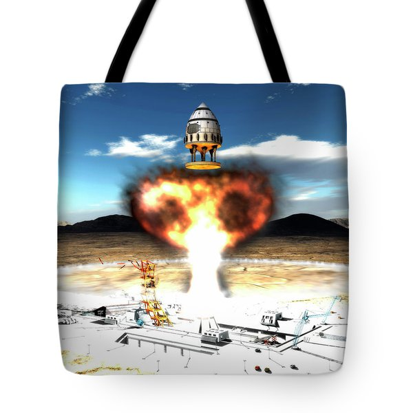 Orion-drive Spacecraft Using Atomic Tote Bag by Rhys Taylor