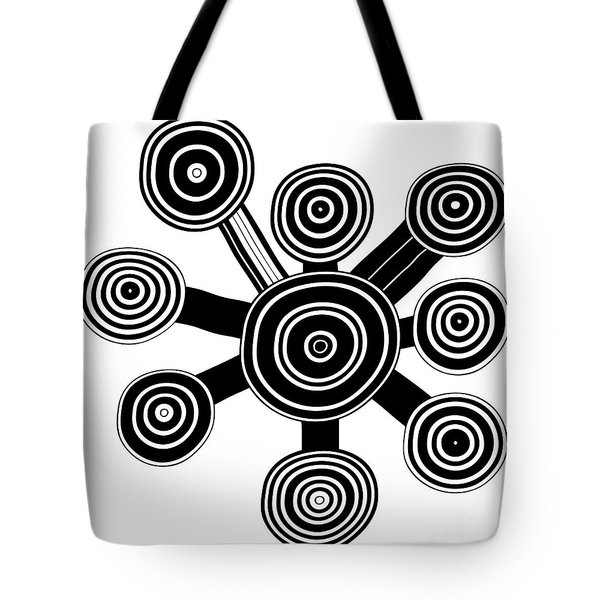 Ornament - Primitive Art Tote Bag by Michal Boubin