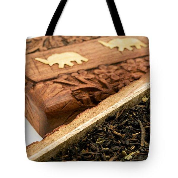 Ornate Box With Darjeeling Tea Tote Bag
