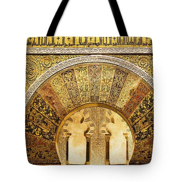 Ornate Mezquita Mihrab In Cordoba Tote Bag by Artur Bogacki
