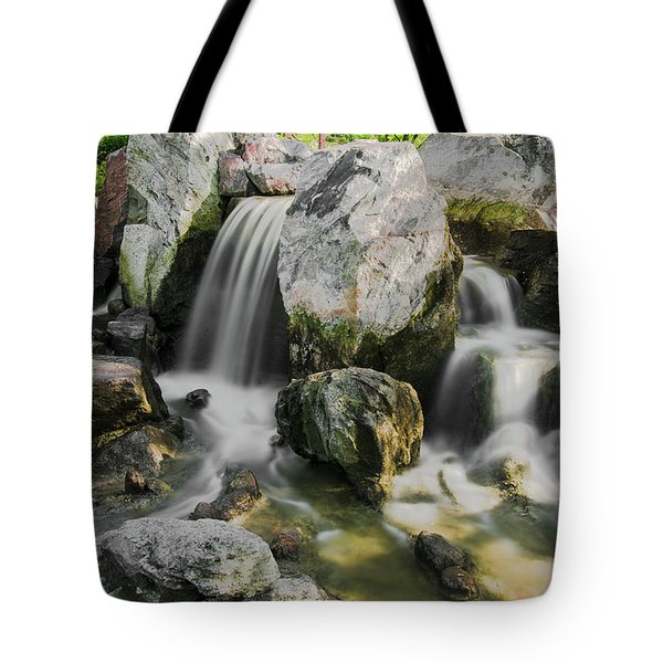 Osaka Garden Waterfall Tote Bag
