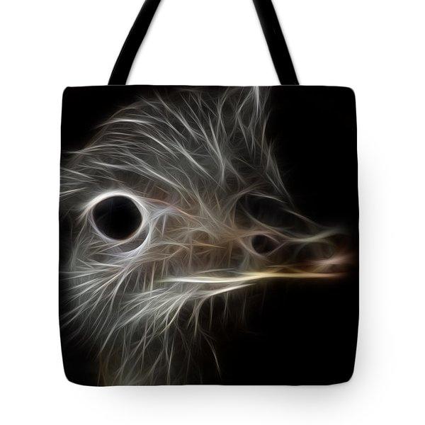 Ostrich Fractalius Tote Bag