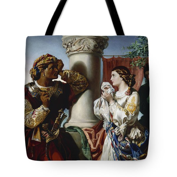 Othello And Desdemona Tote Bag by Daniel Maclise