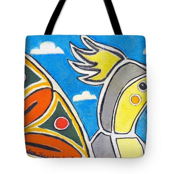 Our Heart Bird Oscar Tote Bag