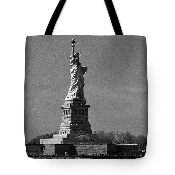Tote Bag featuring the photograph Our Lady Of The Harbor by Nancy De Flon