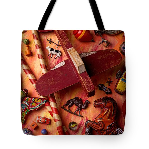 Our Old Toys Tote Bag by Garry Gay