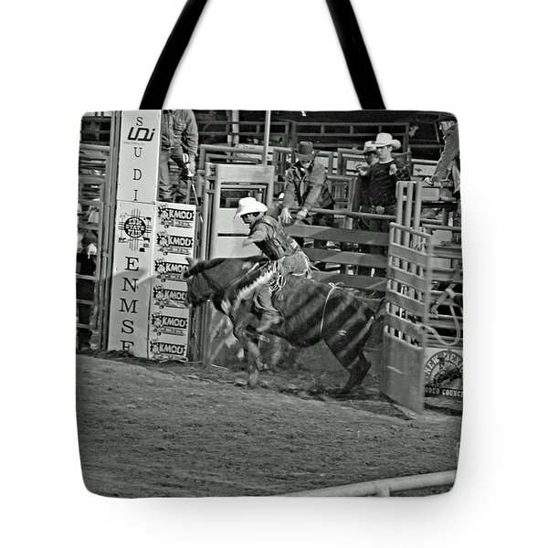 Out Of The Chute Tote Bag by Shawn Naranjo