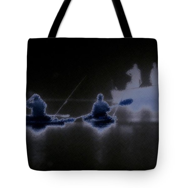 Tote Bag featuring the photograph Out Of The Darkness by Myrna Bradshaw