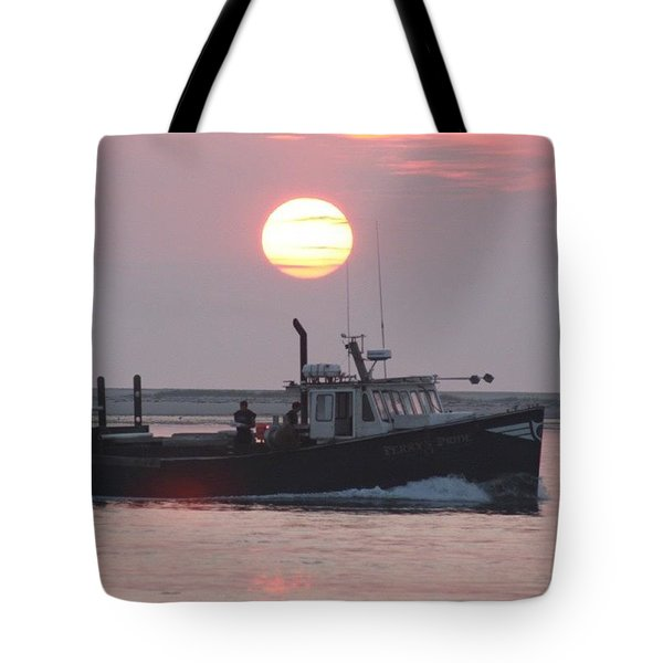 Out To Sea At Sunrise Tote Bag