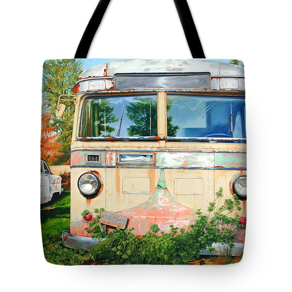 Out Where The Buses Don't Run Tote Bag