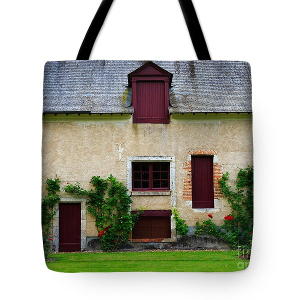 Outbuildings Of Chateau Cheverny Tote Bag by Louise Heusinkveld