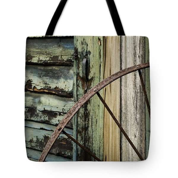Tote Bag featuring the photograph Outside Of An Old Barn by Nancy De Flon