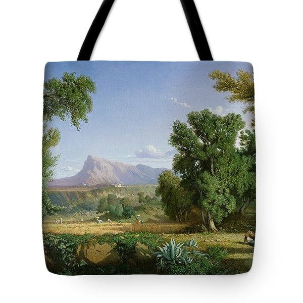 Outskirts Of Valdemusa Tote Bag by Adolphe Paul Emile Balfourier