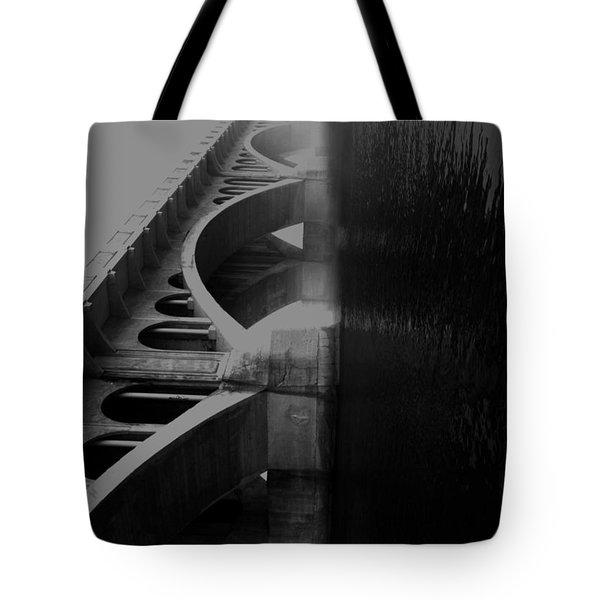 Over The Bridge Tote Bag by Jerry Cordeiro
