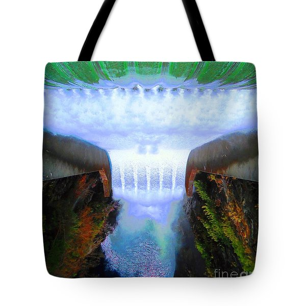 Tote Bag featuring the photograph Over The Edge by Ann Johndro-Collins