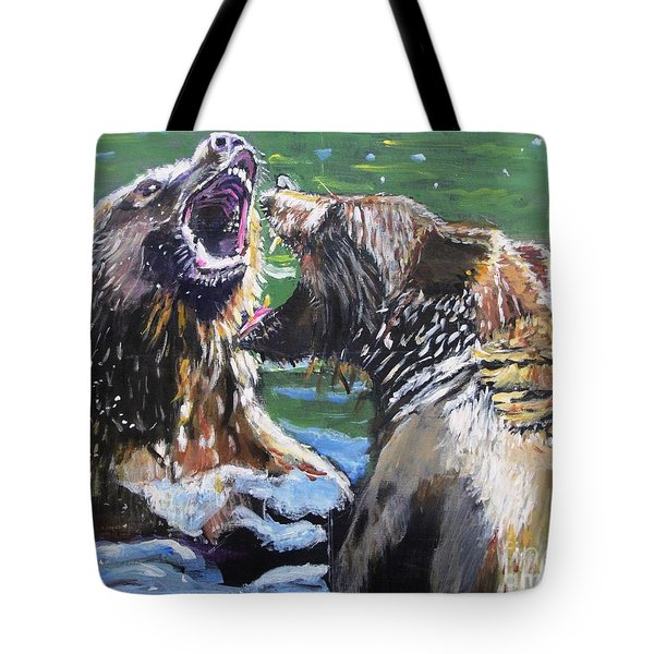 Tote Bag featuring the painting Overbearing by Judy Kay