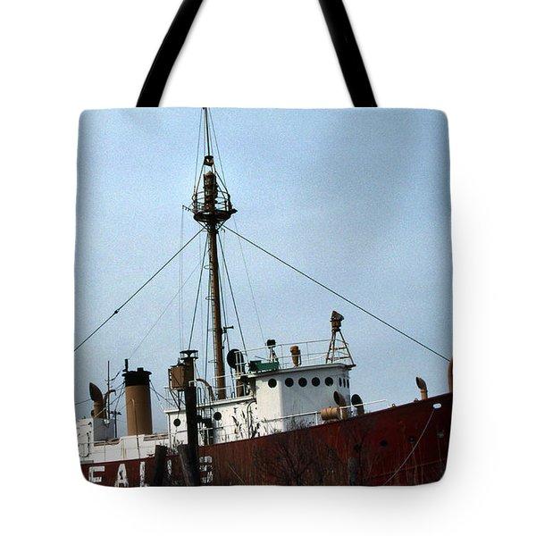 Overfalls Lightship Tote Bag by Skip Willits