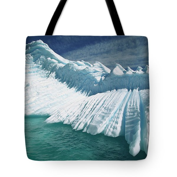 Overturned Iceberg With Eroded Edges Tote Bag by Colin Monteath