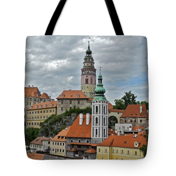 Tote Bag featuring the photograph Overview Of Cesky Krumlov by Kirsten Giving