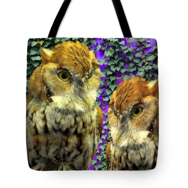 Owl Look Tote Bag by Lynda Lehmann