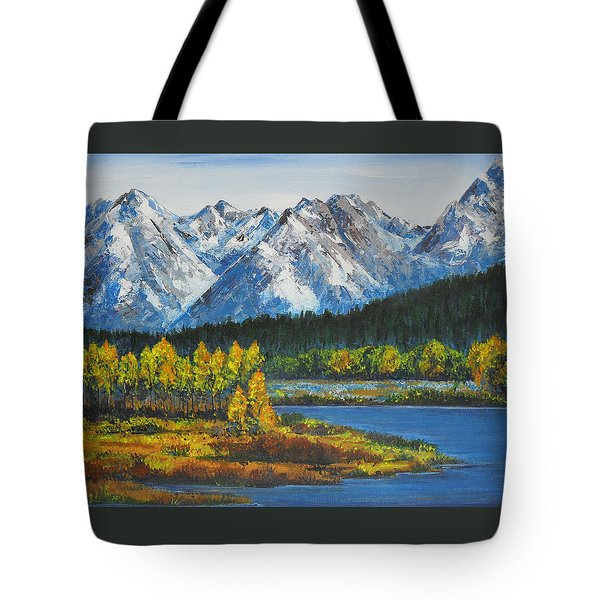 Oxbow-grand Tetons  Tote Bag