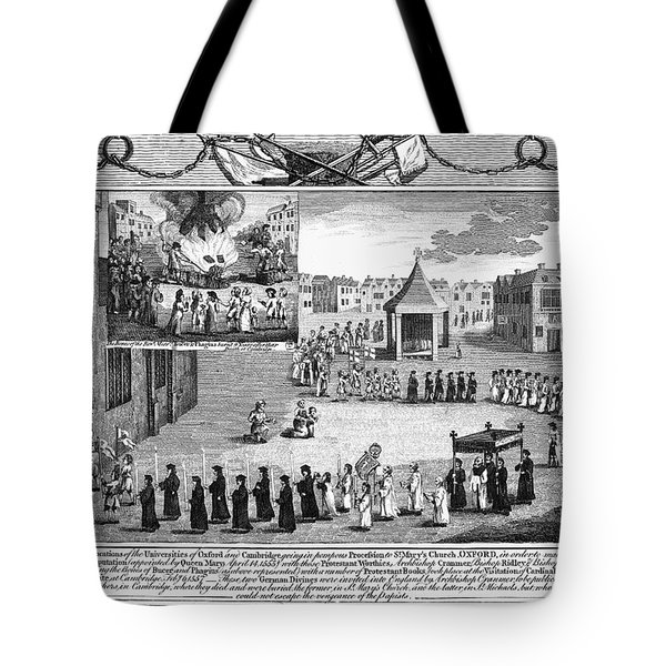 Oxford Martyrs, 1556 Tote Bag by Granger