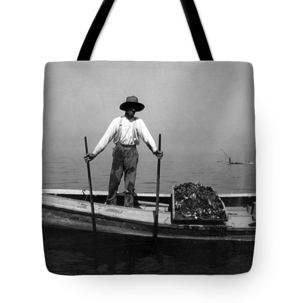 Oyster Fishing On The Chesapeake Bay - Maryland - C 1905 Tote Bag