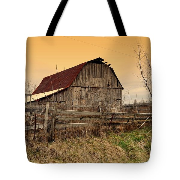Tote Bag featuring the photograph Ozark Barn 1 by Marty Koch