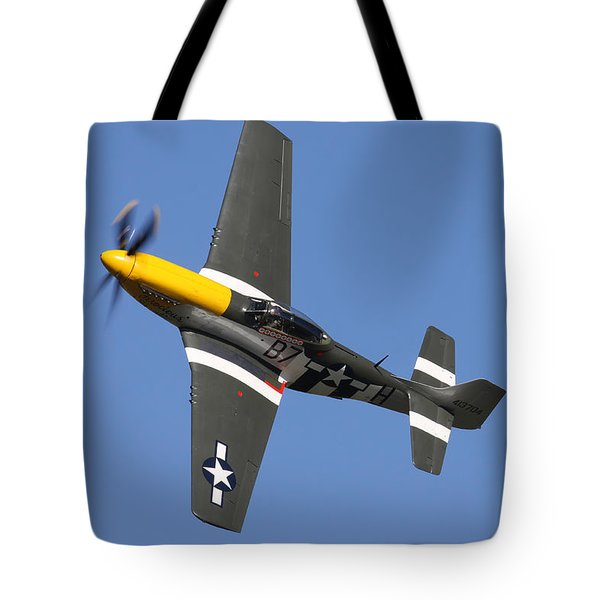 P51 Mustang Cadillac Of The Skies Tote Bag